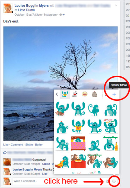 NEW Facebook Stickers in Comments. Like or Dislike?