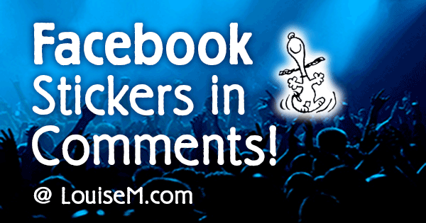 Fun! Facebook Stickers in Comments. Like or Dislike?