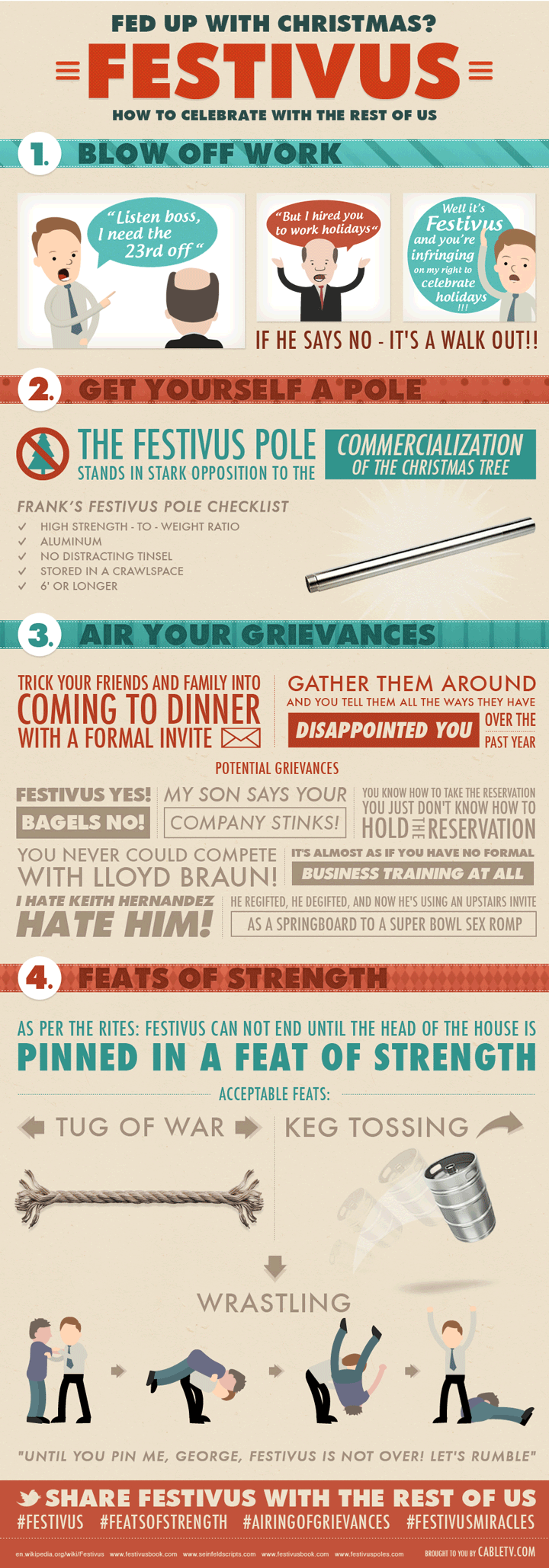 Ready to have a Happy Festivus? If you haven't prepared, that's perfect! Just follow these 4 easy steps to a stress-free holiday.