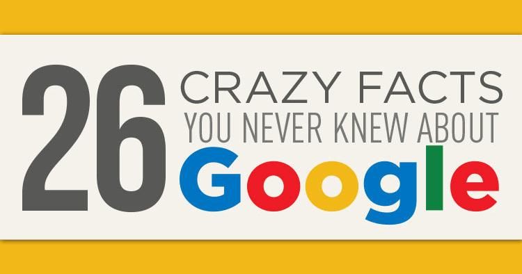 The facts, just the Google facts: 26 crazy facts you never knew about Google! Check the infographic and learn some cool stuff to impress your friends.