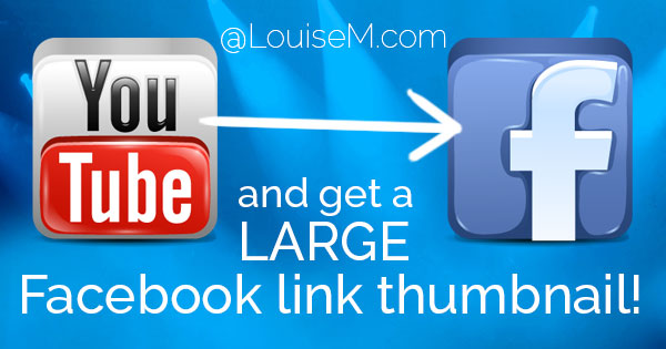 How to Post YouTube Videos on Facebook w/ a LARGE Link