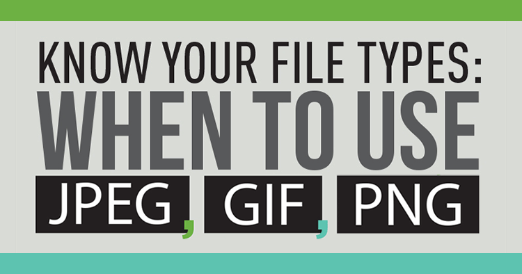 Don't risk ugly images and slow-loading websites! Master image file types with this infographic. Learn why and when to use JPG, GIF, and PNG files fast!