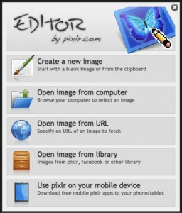 How to Use Pixlr to Add Text to Photos:  Step 1