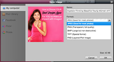 How to Use Pixlr to Add Text to Photos:  Step 5