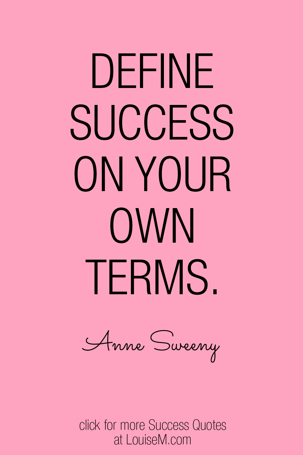 define success on your own terms quote graphic
