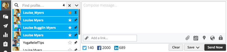 You can add your Google+ profile when composing a post for Facebook, LinkedIn, or Twitter in HootSuite – saving you time.