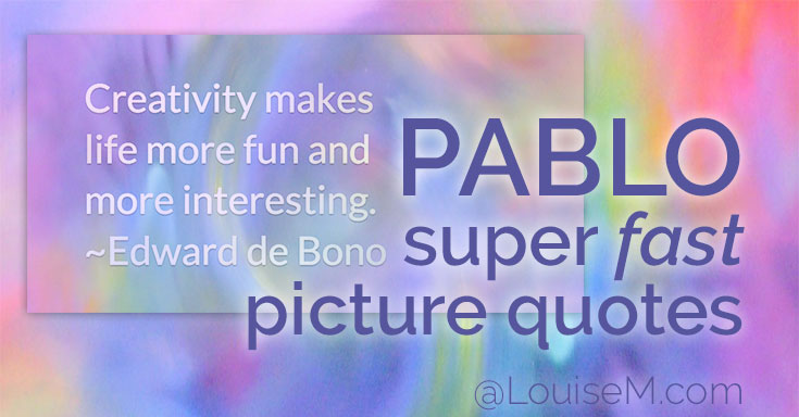 Want to make super fast picture quotes - under-30-seconds fast? Now you can, with Pablo from BufferApp. It's fast – and it's free! What's not to love?