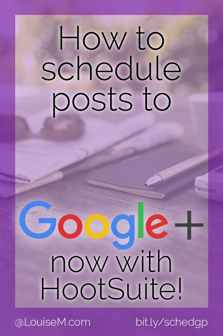 Want to schedule posts on Google Plus? Now you CAN! Here's how to schedule to GooglePlus personal profiles via HootSuite,