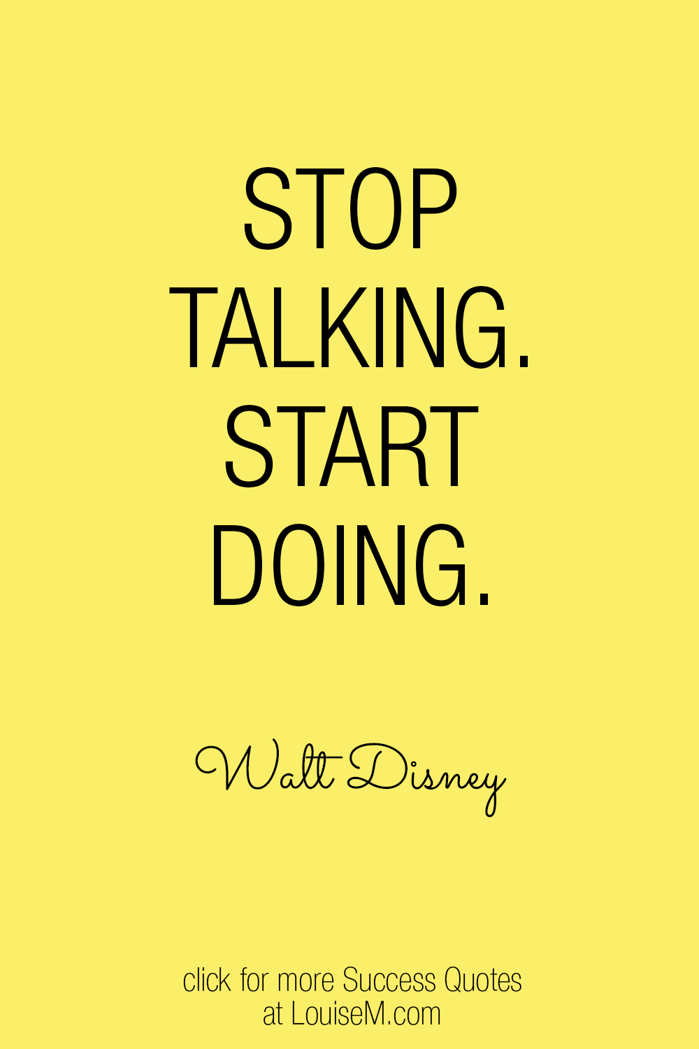 quit talking and begin doing quote image