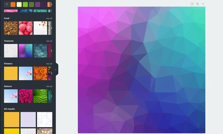 gradient background in canva