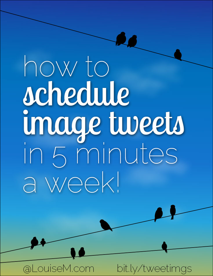 Images rock Twitter - but they're so tedious to upload! Want to learn how to schedule tweets with images in a couple minutes a week? Read this!