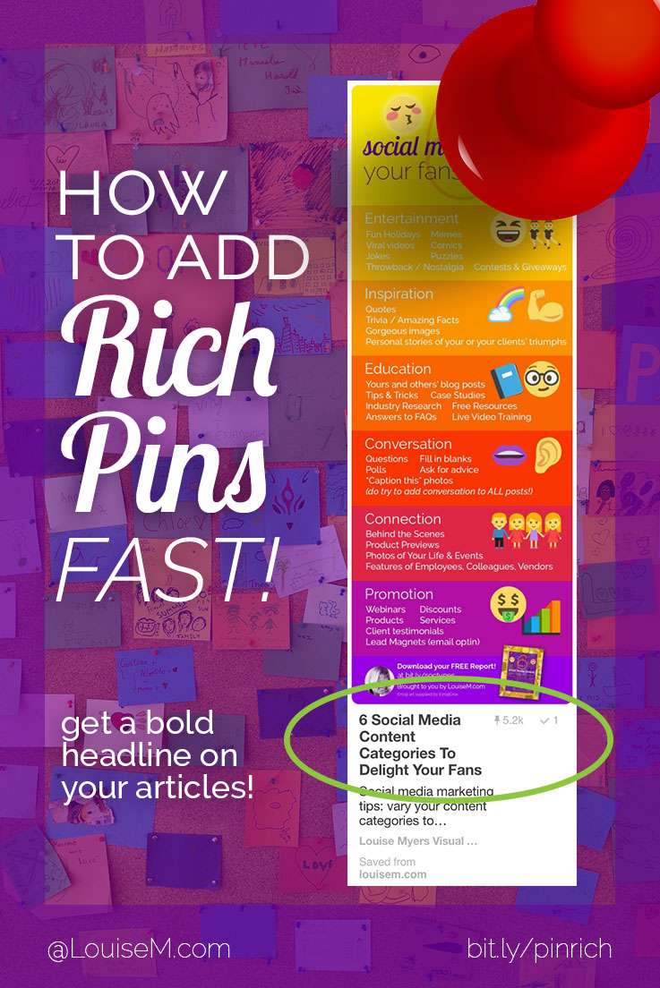 You must add Rich Pins to pop your Pinterest posts! If you blog on WordPress, you can add them in a snap! Easy directions to get more repins & followers.