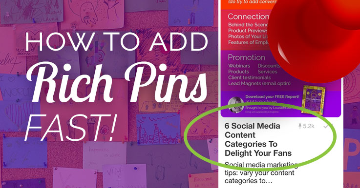 add Rich Pins to pop your Pinterest posts