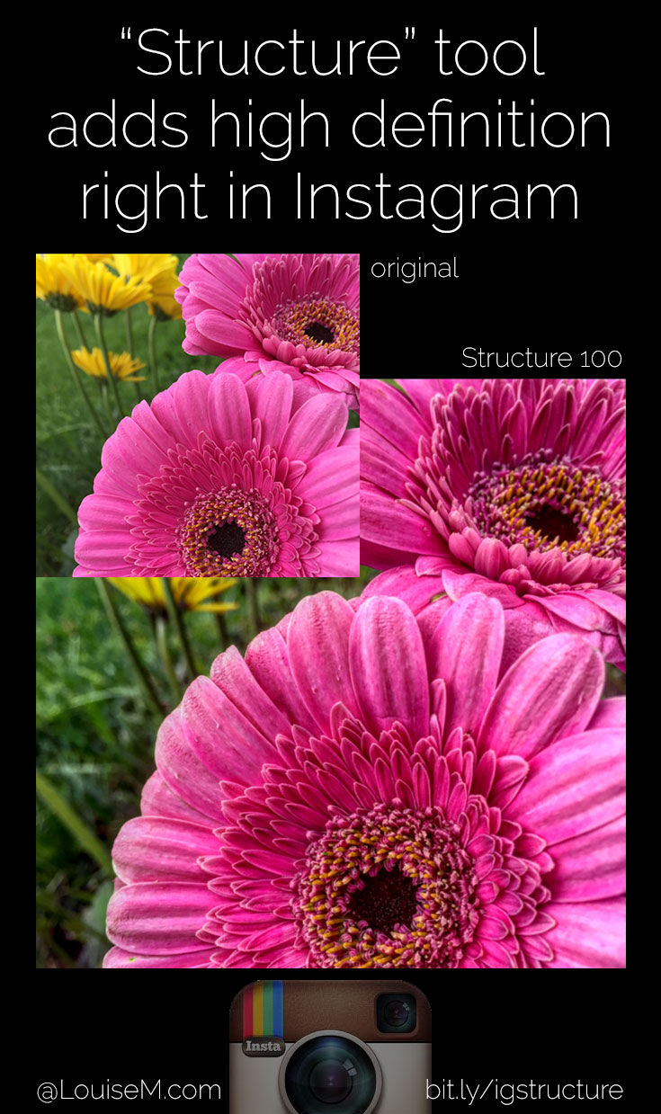 What's Instagram Structure? A great new photo editing tool that adds high definition detail and texture to your photos - right in Instagram!