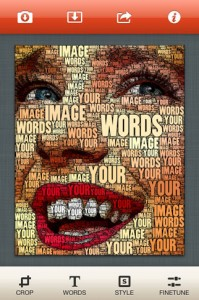 Pick a photo and appropriate words. WordFoto goes to work making your photo into words!
