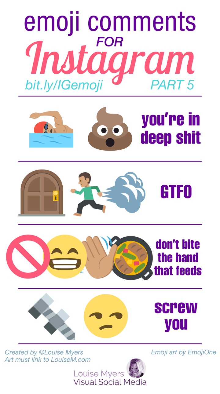 Good emoji captions for those not afraid to offend