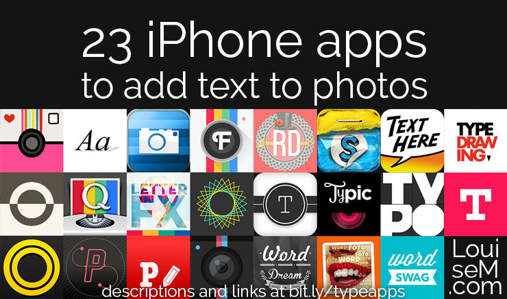 Ultimate List! 23 iPhone Apps to Add Text to Photos