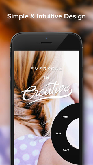The Over app adds text and pre-made text images to your photos.