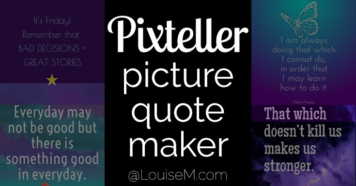 Pixteller: Make Pro Picture Quotes Even If You're Not a Designer!