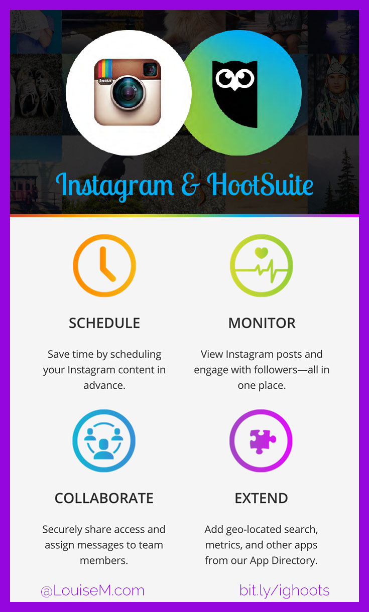 Want to schedule Instagram posts via HootSuite? Now you can! There's a trick though - it's a bit complicated. But the account management options are superb!