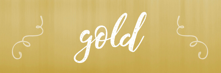 Gold Color Personality banner