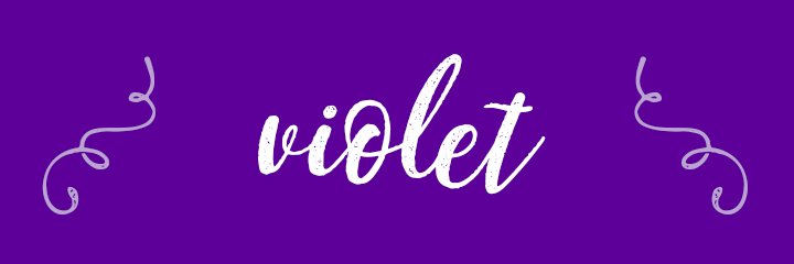 Violet Color Personality banner