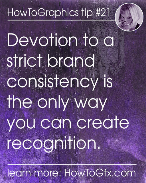 Consistency is critical in your visual content. Create a brand!