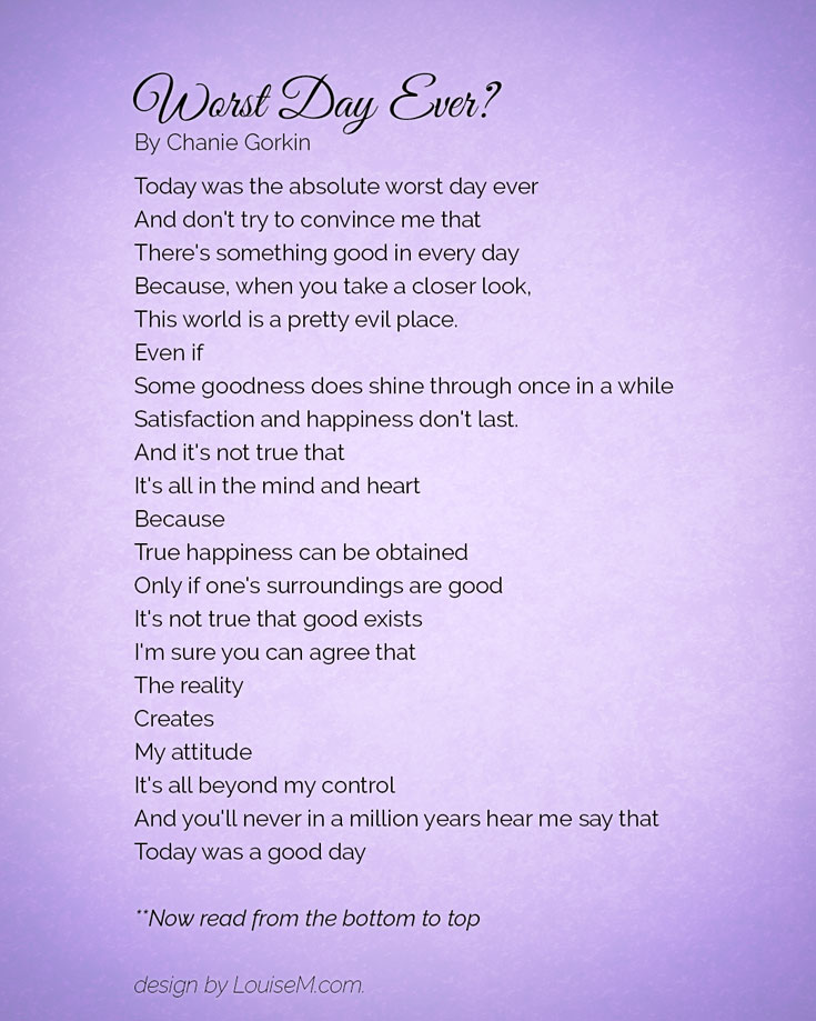 worst day ever to best day poem
