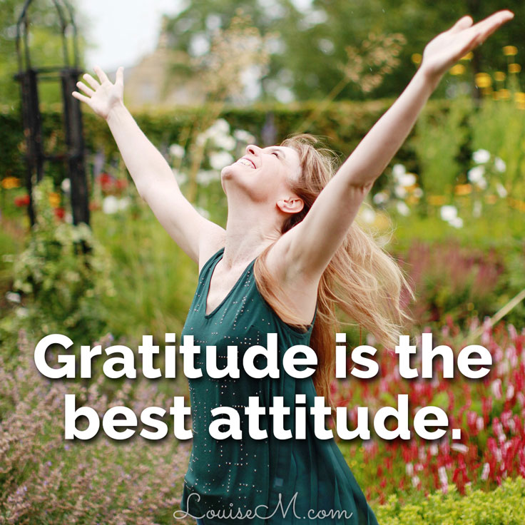Inspirational graphics rock Facebook: Gratitude is the best attitude.