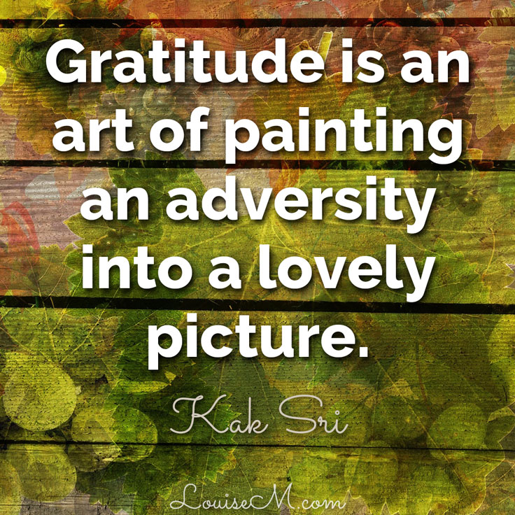 gratitude quote image: paint adversity into a lovely picture