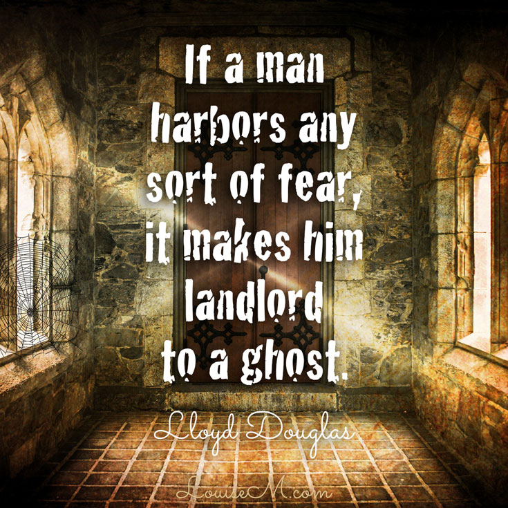 """More Halloween quotes and FREE photos on the blog! """"If a man harbors any sort of fear, it makes him landlord to a ghost."""""""