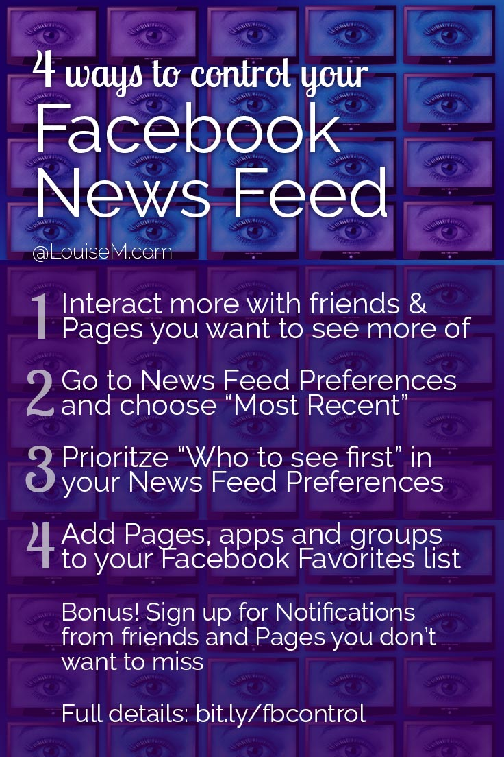 What's in your Facebook newsfeed? A jumble of junk? If you're missing posts from your fave friends and Facebook Pages, take control NOW! Click thru to blog for details.