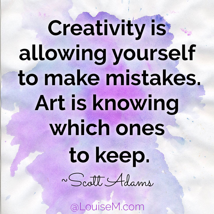 Superb Creativity Is Allowing Yourself To Make Mistakes. Art Is Knowing Which Ones  To Keep.