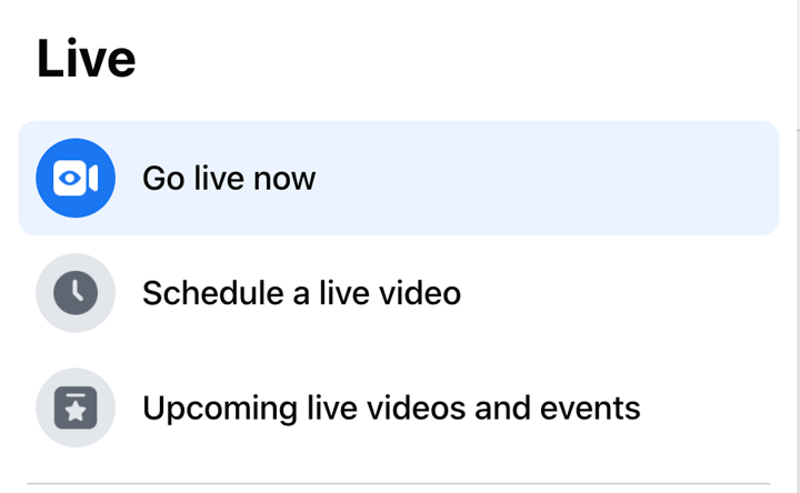 go live now or schedule for later