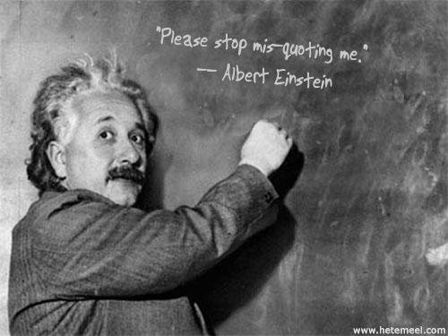 Fake Einstein quotes meme
