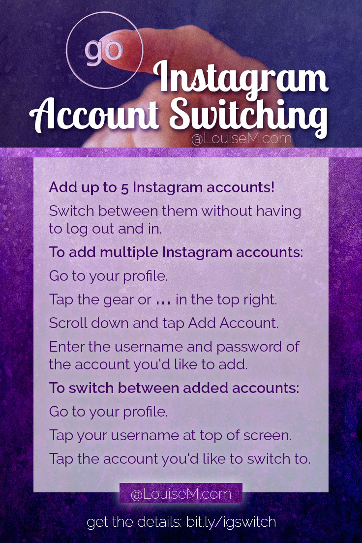 Got multiple Instagram accounts? Now you can easily switch between accounts! Here's how to make your Instagramming easier.