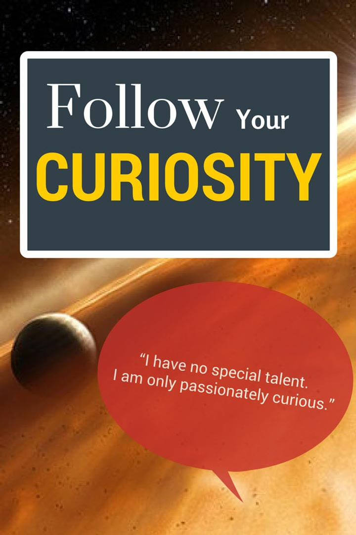 Albert Einstein quote on curiosity