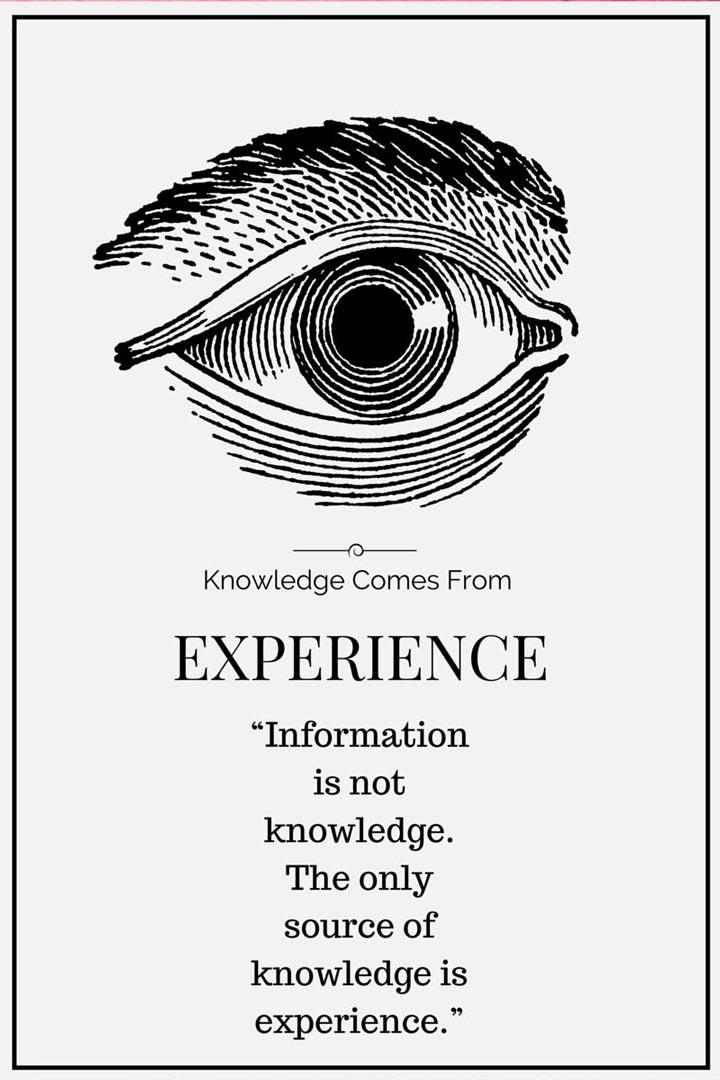 Albert Einstein quote about experience