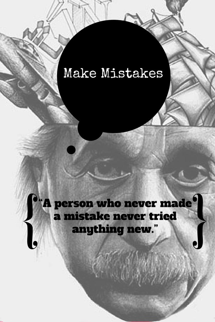 Albert Einstein quote on mistakes