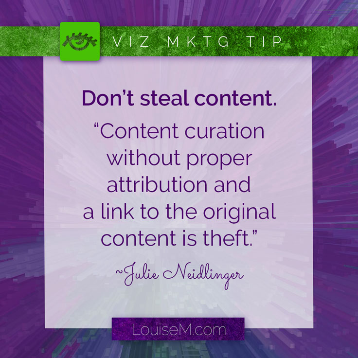 Can I Share Others' Content If I Link Back? Maybe. But just because you link back doesn't mean it's OK. Read more on the blog.