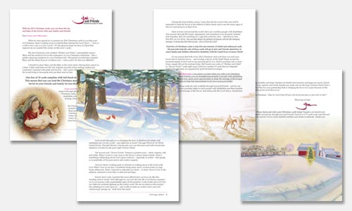 Christmas cards direct response mailer using the card art.
