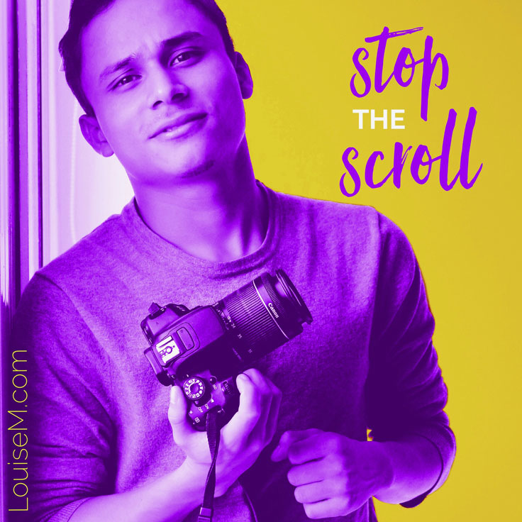 Stop the scroll quote image made with Over app