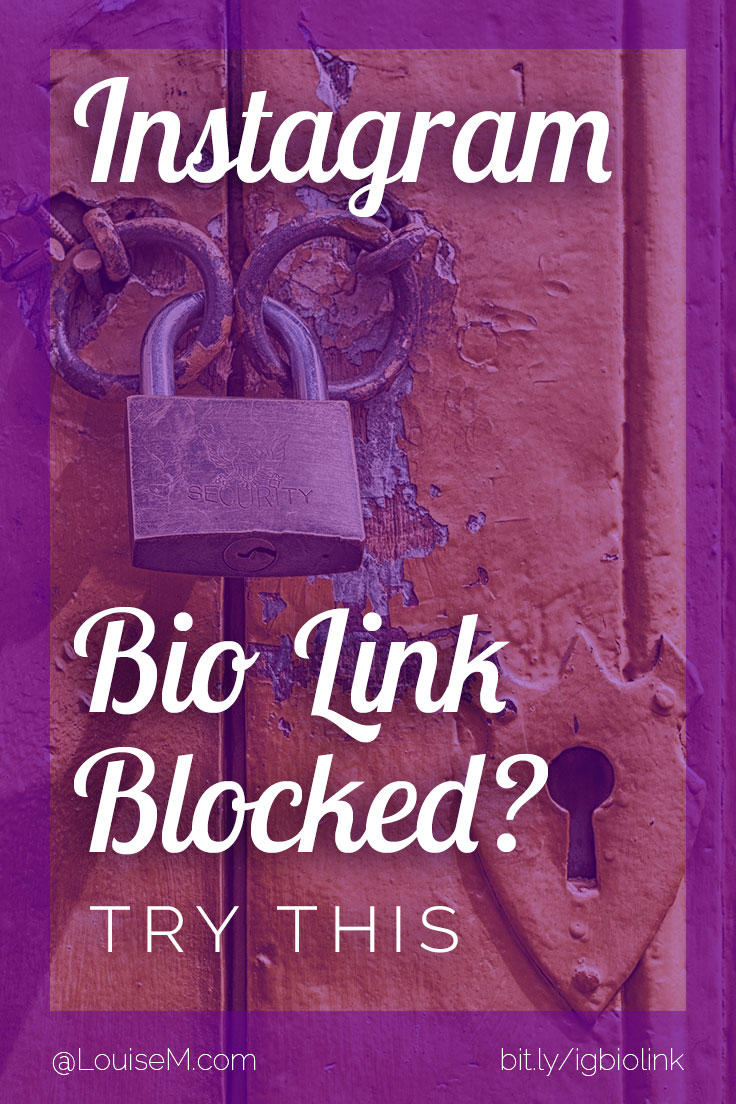Did Instagram Block Your Bio Link? Try This