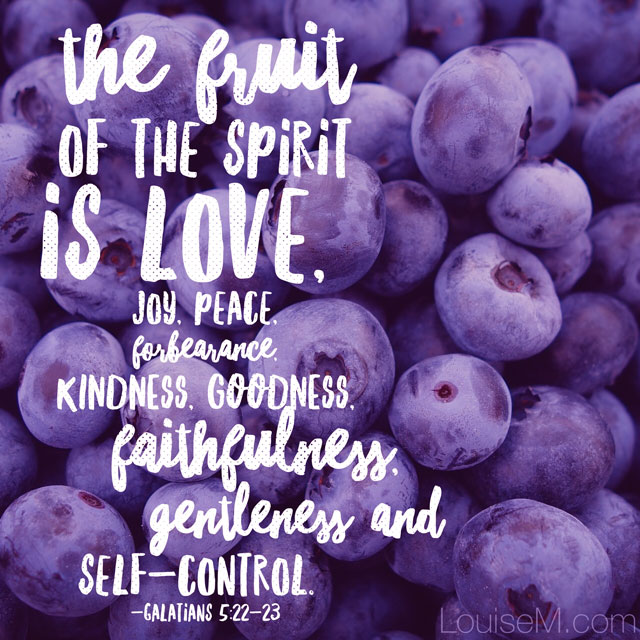 WordSwag app for quote graphics: Fruit of the Spirit, Galatians