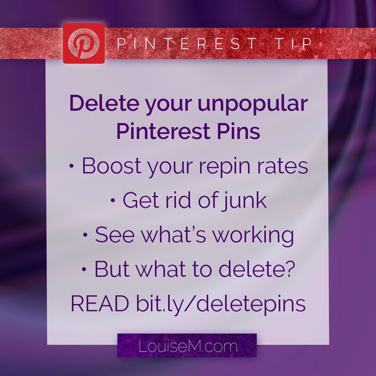 Some reasons to delete Pinterest Pins. Details on the blog!