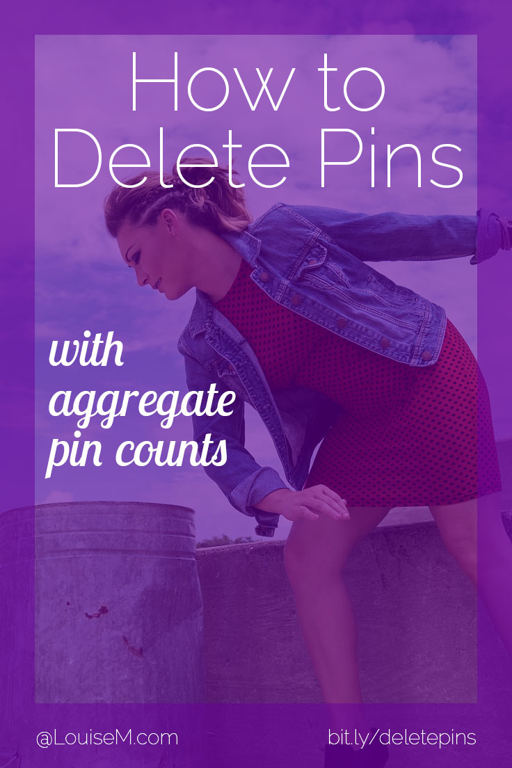 Wondering how to delete Pinterest Pins now? Aggregate Pin counts make it tough to know which pins are performing – and which are losers. Here's the answer!