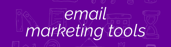Email Marketing Tools banner image.