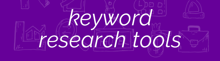 Keyword research tools banner image.