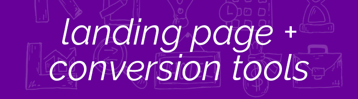 Landing Page and Conversion tools banner image.