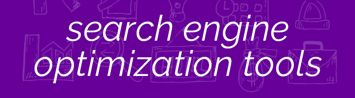 Search Engine Optimization Tools banner image.